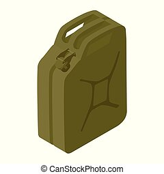 combustible, contenedor, jerrycan