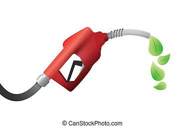 combustible, pump., eco, diseño, ilustración