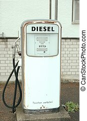 combustible, viejo, bomba, diesel