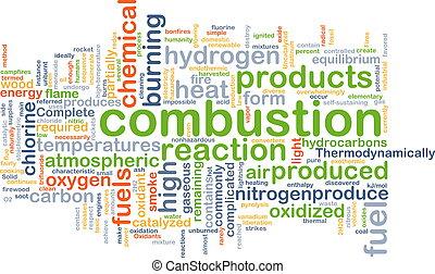 Combustion background concept - Background concept wordcloud...