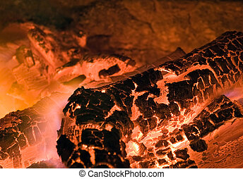 Combustion - Close up of fire or combustion.