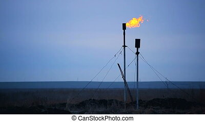 combustion of natural gas - Natural gas production in small...