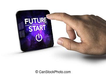 começa, agora, futuro