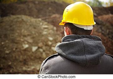 começando, a, construção
