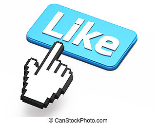 come, hand-shaped, bottone, cursore, premere, topo