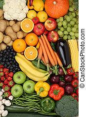 come, mela, fondo, frutte, arancia, vegetariano, verdura