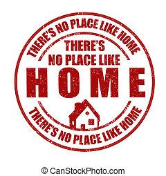 come, no, francobollo, there's, posto, casa