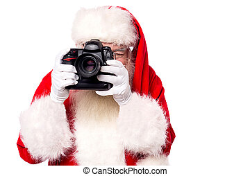 Come on lets take a picture ! - Santa-claus taking picture ...