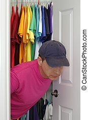 Come Out - Older gay man coming out of the closet.