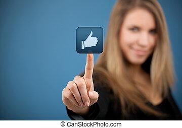 come, sociale, -, media