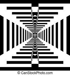 come, tunnel, sfondo nero, trasparente, struttura