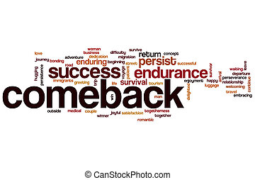 Comeback word cloud concept