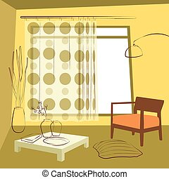 comedor, cortinas