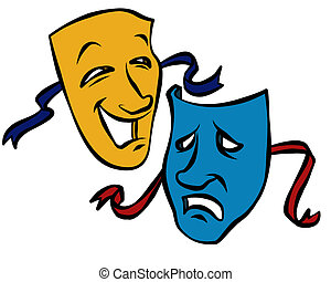 Comedy and Tragedy Masks - An illustration of the Comedy and...