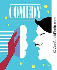 Comedy cinema poster.