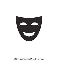 Comedy mask icon on white background
