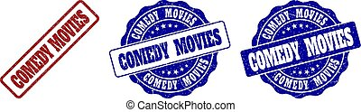 COMEDY MOVIES Grunge Stamp Seals