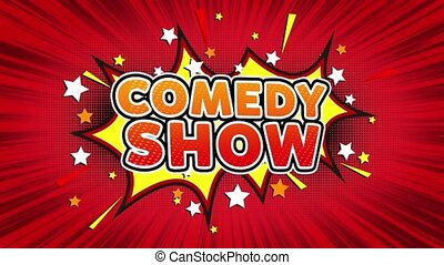 Comedy Show Text Pop Art Style Comic Expression. - Comedy...