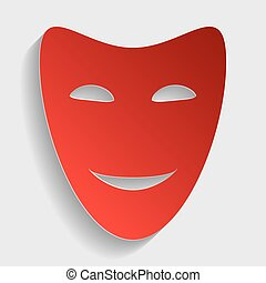 Comedy theatrical masks