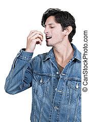 comendo maçã, homem