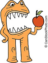 comer, maçã