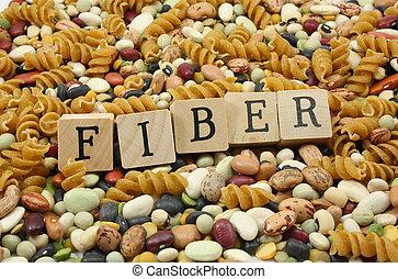 comer, mais, fiber!