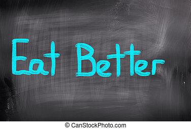 comer, mejor, concepto