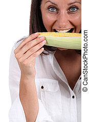 comer mulher, salgue espiga milho