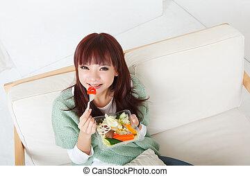 comer, salada