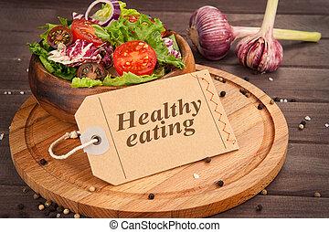 comer saudável, conceito