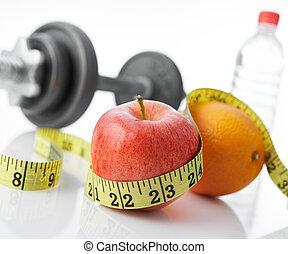 comer saudável, e, vivendo