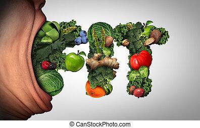 comer saudável, estilo vida