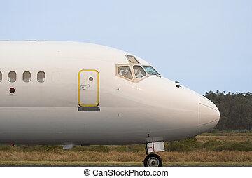 comercial, avión comercial