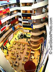 comercial, centro, dentro