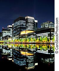 comercial, distrito, tóquio