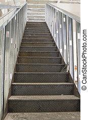 comercial, escalera, construcción