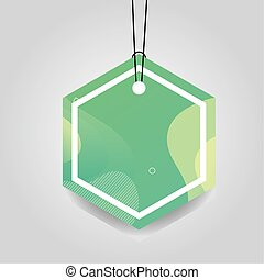comercial tag with green vibrant color vector illustration ...