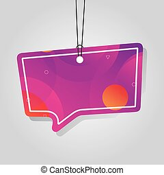comercial tag with pink vibrant color vector illustration ...