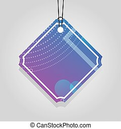 comercial tag with purple vibrant color vector illustration ...