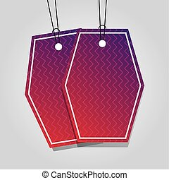 comercial tags hanging with vibrant color vector ...