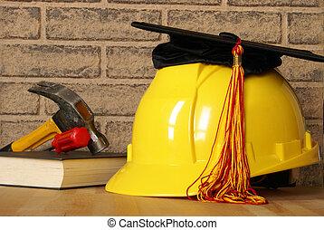 comerciante, graduatiing, éxito