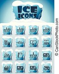 comercio electrónico, conjunto, icono