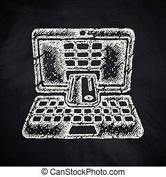 comercio electrónico, icono