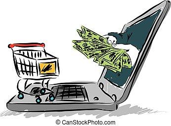 comercio electrónico, ilustración