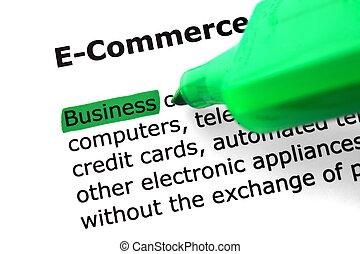 comercio electrónico, palabra