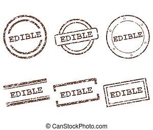 comestível, selos