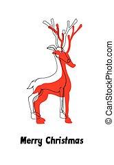 Comet Christmas Reindeer Vector