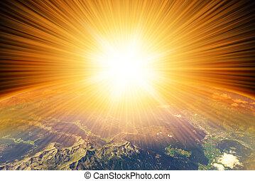 Comet deep impact - Comet meteor deep impact on planet Earth...
