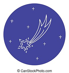 Comet icon in thin line style.