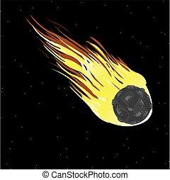 Comet in cosmos